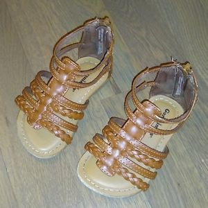 Garanimals Brown Sandals- Toddler Girl 5